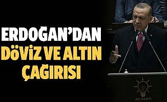 Başkan Erdoğan'dan döviz ve altın çağrısı