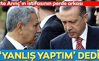 """Başkan Erdoğan'ı arayıp """"yanlış yaptım"""" dedi! İşte Bülent Arınç'ın istifasının perde arkası"""