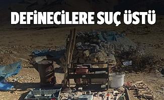 Kahramanmaraş'ta kaçak kazı yapan 4 kişi yakalandı