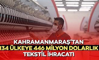 Kahramanmaraş'tan 134 ülkeye 446 milyon dolarlık tekstil ihracatı