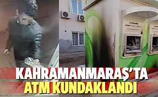 Kahramanmaraş'ta ATM kundaklandı