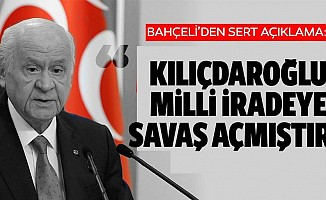 Bahçeli, 'Kılıçdaroğlu milli iradeye savaş açmıştır'