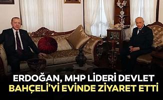 Erdoğan, MHP lideri Devlet Bahçeli'yi evinde ziyaret etti