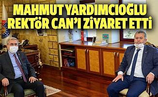 Mahmut Yardımcıoğlu, Rektör Can'ı Ziyaret Etti