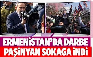 Başbakan Paşinyan megafonu alıp sokağa çıktı çatışmalar başladı