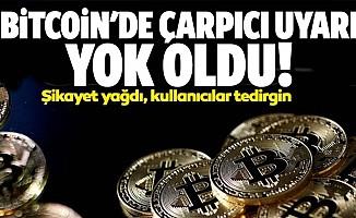 Bitcoin'de çarpıcı uyarı: Yok oldu!