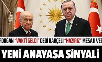 """MHP lideri Devlet Bahçeli'den Başkan Erdoğan'ın """"yeni anayasa"""" açıklamasına destek"""