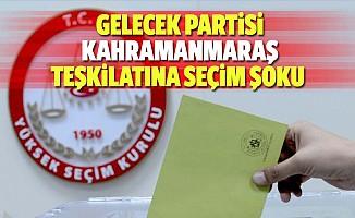 Gelecek partisi Kahramanmaraş teşkilatına seçim şoku