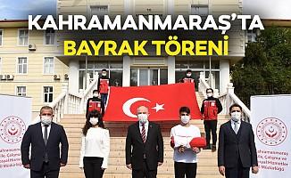 Kahramanmaraş'ta bayrak töreni