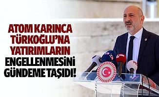 Atom Karınca, Türkoğlu'na yatırımların engellenmesini gündeme taşıdı!
