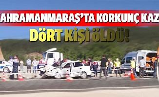 Kahramanmaraş'ta kamyona çarpan otomobildeki 4 kişi öldü