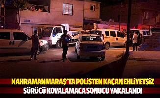 Kahramanmaraş'ta Polisten Kaçan Ehliyetsiz Sürücü Kovalamaca Sonucu Yakalandı