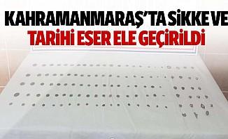 Kahramanmaraş'ta sikke ve tarihi eser ele geçirildi