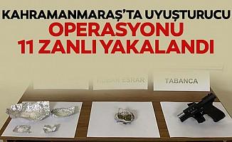 Kahramanmaraş'ta uyuşturucu operasyonu, 11 zanlı yakalandı