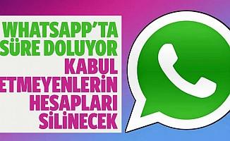 Whatsapp'ta Süre Doluyor: Kabul Etmeyenlerin Hesapları Silinecek