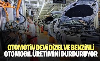 Otomotiv devi dizel ve benzinli otomobil üretimini durduruyor
