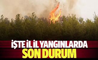 İşte il il yangınlarda son durum