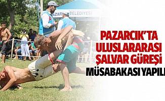 Pazarcık'ta uluslararası şalvar güreşi müsabakası yapıldı
