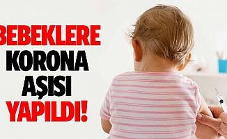 Bebeklere korona aşısı yapıldı