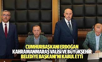 Cumhurbaşkanı Erdoğan, Kahramanmaraş Valisi Ve Büyükşehir Belediye Başkanı'nı Kabul Etti