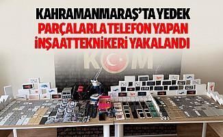Kahramanmaraş'ta Yedek Parçalarla Telefon Yapan İnşaat Teknikeri Yakalandı