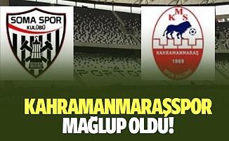 Kahramanmaraşspor yine mağlup oldu!