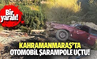 Kahramanmaraş'ta otomobil şarampole uçtu! 1 yaralı