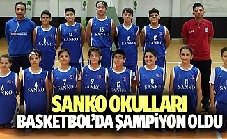 SANKO okulları basketbol'da şampiyon oldu