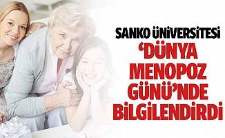 Sanko Üniversitesi 'Dünya Menopoz Günü'nde Bilgilendirdi