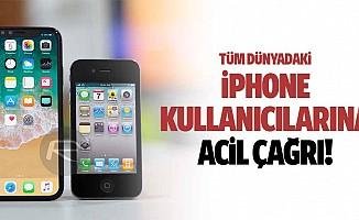 Tüm dünyadaki iphone kullanıcılarına acil çağrı!