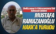 Bediüzzaman'ın talebesi Mustafa Ramazanoğlu vefat etti