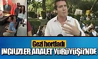 Gezi ekibi adalet yürüşünde ortaya çıktı