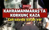 Kahramanmaraş'ta yolcu otobüsü kamyona çarptı, çok sayıda yaralı var