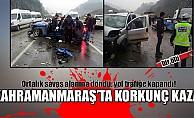 bKahramanmaraşta korkunç kaza: 1 ölü/b