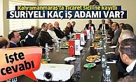 Kahramanmaraş'ta sicile kayıtlı Suriyeli kaç iş adamı var? İşte cevabı