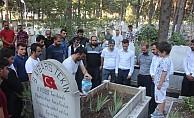 Ülkücü şehit Bleda Aybars tekin vefatının yıldönümünde mezarı başında anıldı!