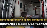 Adana'da görenlerin kanını donduran olay