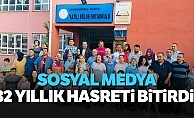 Kahramanmaraş'ta sosyal medya 32 yıllık hasreti bitirdi!