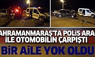 bKahramanmaraş#039;ta Polis Aracı İle Otomobilin Çarpıştı/b
