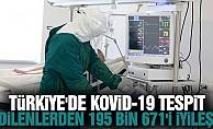 Türkiye'de Kovid-19 tespit edilenlerden 195 bin 671'i iyileşti