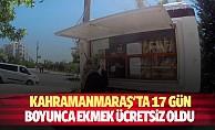 Kahramanmaraş#039;ta 17 gün boyunca ekmek ücretsiz oldu