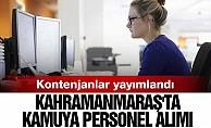 Kahramanmaraş#039;ta kamuya personel alımı