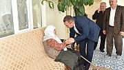 Başkan Aydın, Yaşlıları Ziyaret Etti