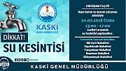 Kahramanmaraş'ta Su kesintisi