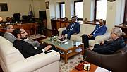 Özdemir ve Sezal, Rektör Niyazi Can'ı Ziyaret Etti