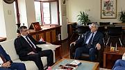 TBMM İçişleri Komisyonu Başkanı Güvenç, Rektörümüz Prof. Dr. Niyazi Can'ı Ziyaret Etti