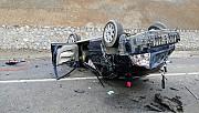 Kahramanmaraş'ta otomobil devrildi: 1 ölü, 1 yaralı
