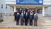 Rektör Can, Pazarcık'ta İlçe Protokolü ve MYO Personeli ile Bir Araya Geldi