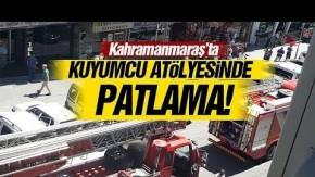 Kuyumcu Atölyesi#039;nde patlama! 1 yaralı